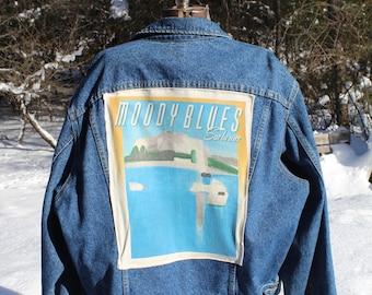 Vintage 1988 Moody Blues Denim Jacket