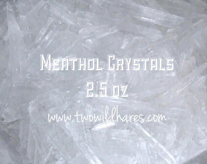 MENTHOL CRYSTALS, 100% Mentha Arvensis, 2.5 oz