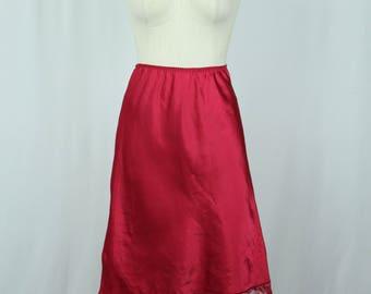 Maroon Vintage Half Slip / Skirt Extender