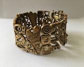 Vintage Chicos Live Love Laugh Stretch Chunky Bracelet