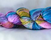 RAINBOW LOOM Speckled super wash merino nylon sock 100 grams 463 yds 75, 25 free shipping