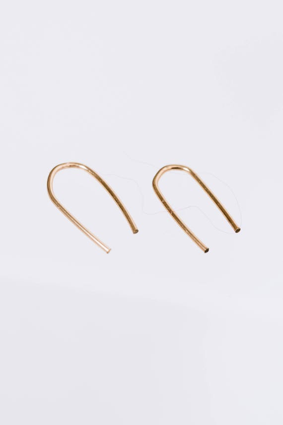 Horseshoe gold fill hoop earrings