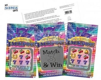 DIY Scratch Off Lotto Replica Card - PURPLE Jackpot Design