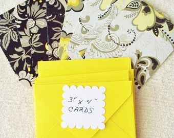 """8 - 3""""x4""""  Flowered Mini Note Cards/Gift Cards with envelopes - Free Secondary Shipping"""