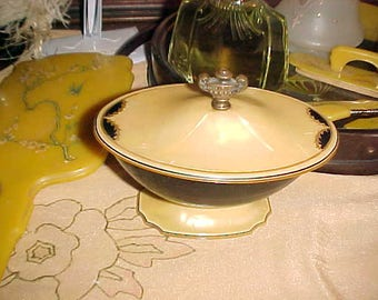 Vintage ART Deco Vanity Item PYRALIN SHERATON Cover Bowl/Cosmetics or Candy Will Grace Any Room In Home