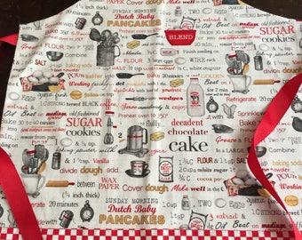 Child apron, child art smock, apron,  apron, Christmas gift, cooking apron, reversible apron, size 4-6