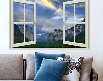 PRINT FILE-open window view- Yosemite, California- easy, do it yourself wall art
