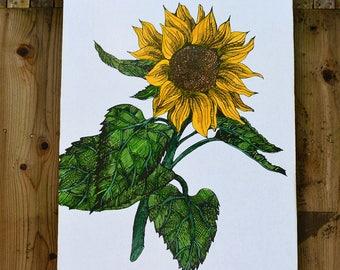 Sunflower - Le Jardin de Soleil - Wall Art - Rue Sonoma Original Design