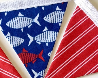 Nautical mini bunting