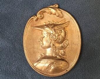 Brass Roman gladiator mold