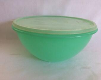 Jadite Tupperware Mixing Bowl with Lid