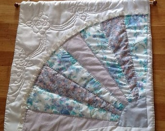 Sale Vintage Fan Quilt Wall Hanging
