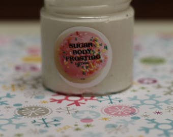 JACK FROST Body Frosting Lotion 4oz. Jar- Christmas Gift - Cruelty Free Smells Blueberry + Peppermint - Gift for Her - Stocking Stuffer
