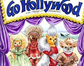 Teddy Bear and Friends Paper Dolls Go Hollywood Uncut Costumes Play Uncut Paper Dolls Book