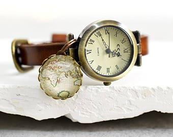 GLOBETROTTER True Leather Watch (WUHR-25)