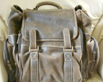 HUGH Leather Rucksack Backpack  / Brown Leather Backpack / Claire Chase Bag