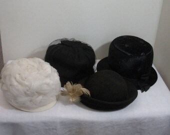 Vintage Lot of 4 Womens Hats - Henry Pollak
