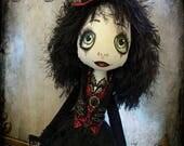 Jonquil - Urchin art doll Goth Grotto