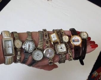 Ladies Watch Lot of 10..Vintage and Newer Watches..Working and Non Working Watches..Wear or Craft Lot of Watches