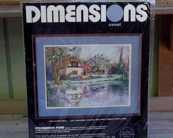 Dimensions Crewel Kit Stockbridge Pond