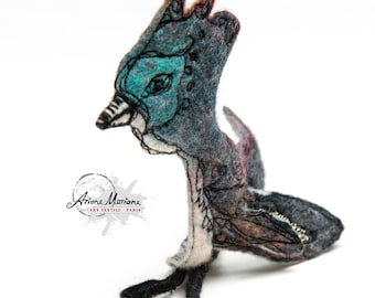 Collectible Art Sculpture - Fancy Critter Textile Art - Original Art From Paris