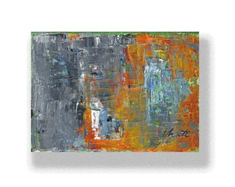 """Abstract Painting. """"Grey Orange"""""""