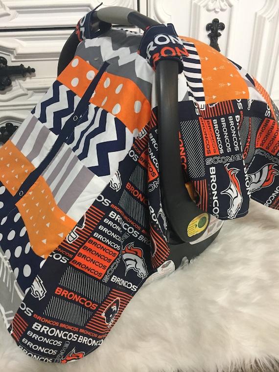 Denver Broncos , Car seat cover , car seat canopy , carseat cover , carseat canopy , nursing cover
