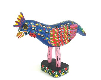 vintage colorful carved and brightly painted wooden animal   ...   oaxaca mexico  ...   artisan pedro ramirez