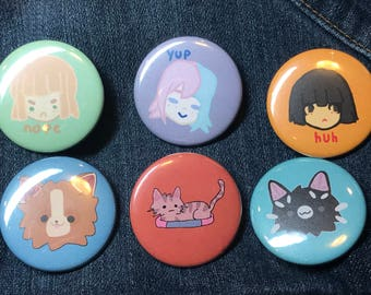 People and Pet Buttons