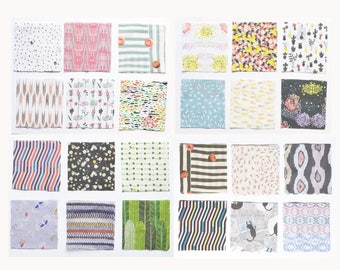 Original Design Fabric Scrap 24 Sheets