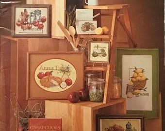 Vintage Leisure Arts Kitchen Stitchin Cross Stitch Needlepoint Leaflet 157
