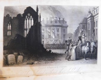 On Sale....1841 The Land Without The Sabbath Antique Book  French Revolution Life During and After the Terror France Scarce First Edition