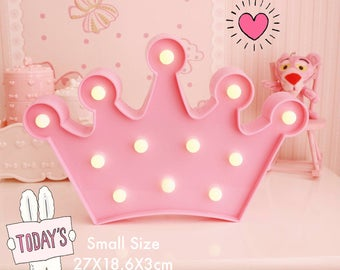 Crown Lamp 2Sizes.LED lamp,Night lights,Desk lamp,Wedding sign,Event theme decoration