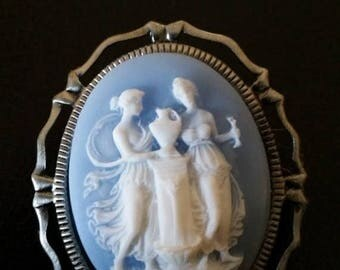 Gorgeous Grecian CAMEO Brooch- 20-25% off Jewelry SALE