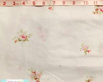 Queen Vintage Fitted Sheet with Beautiful Pink Roses