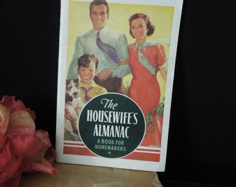 Kellogg's Promotional Booklet - 1938 The Housewife's Almanac~A Book for Homemakers - Vintage - Gag Gift Bridal Wedding Shower
