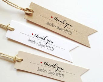 Custom Wedding Favor Tags Thank You Tags Personalized Wedding Gift Tags Bridal Shower Tags