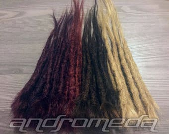 Permanent Dread Extenders -- Custom 100% Human Hair Crocheted Dreadlock Extensions
