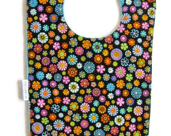 Bib, Large Bib, Millefiori , Toddler Bib, Baby Bib, Food Bib, Reversible Bib, Minky Bib, Oversized Bib, Ready to Ship, Baby Shower Gift