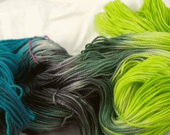 BFL Sock Yarn, Beautiful Bayou, Hand Dyed