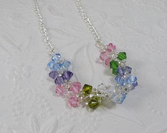 Swarovski Necklace Woven Spiral Necklace Chain Necklace