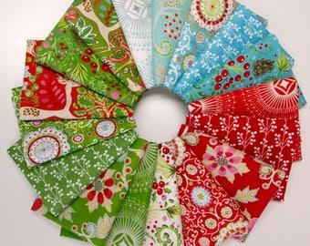 Winterland - Fat Quarter Bundle by Dena Designs -FreeSpirit Fabrics - 17 prints