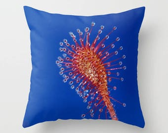 The SUNDEW Collection - carnivorous home decor - sundew throw pillow, sundew shower curtain, sundew floor pillow, sundew lumbar pillow