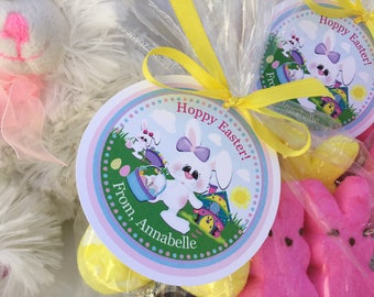 Easter gift tag etsy easter basket tag easter favor tag bunny rabbit easter egg hunt negle Choice Image