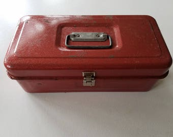 Red Metal Tackle Box