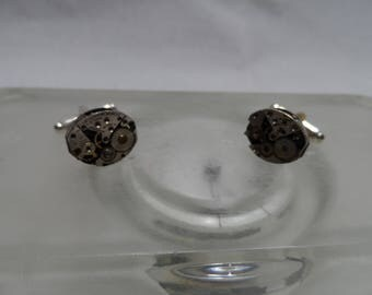 Jeweled Watch Movement Cuff Links