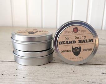 Mr. Darcy Beard Balm - Natural Beard Balm, Organic, Beard Moisturizer, Beard Conditioner, Beard Wax, Beard Care, Beard Grooming