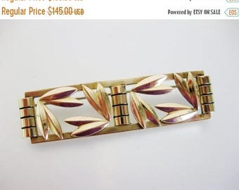 ON SALE ON Sale Gorgeous Vintage N.Y. Designer Karlan & Bleicher Asian Style 12K Gf Brooch