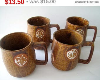 Set of Four Mugs Made in Japan