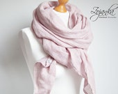 BALTIC linen scarf, natural scarf, SHAWL, pure linen, linen scarf, natural scarf, eco fashion, gift for her, dusty pink SHAWL